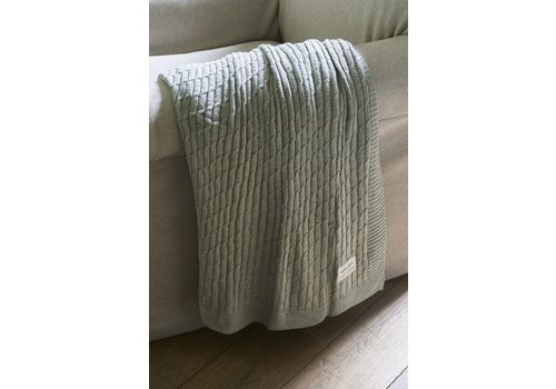 Homestore Classic Cable Throw flax 170x130
