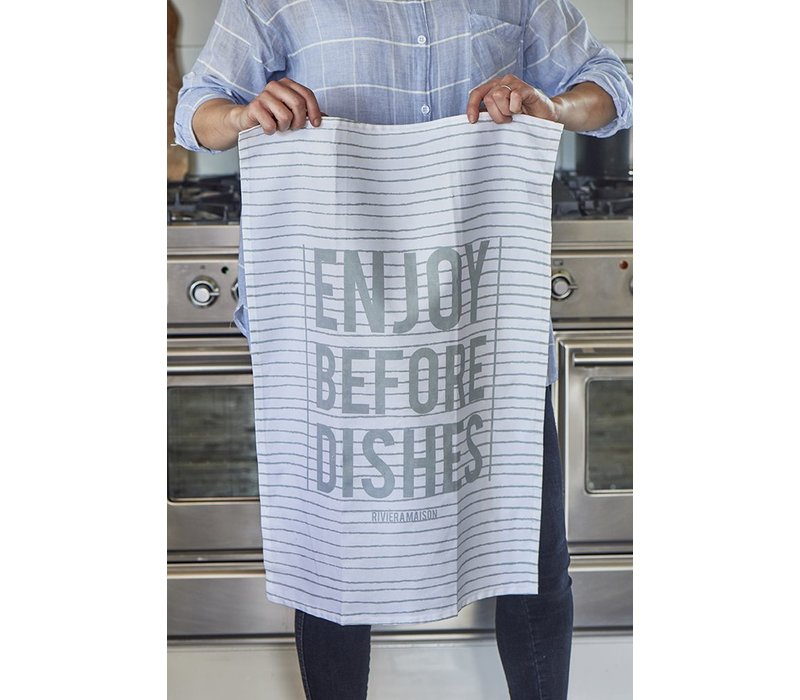 Enjoy Before Dishes Tea Towel