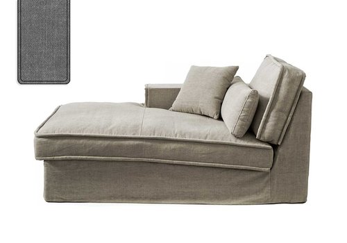 Homestore Metropolis Chaise L Left Cot Grey