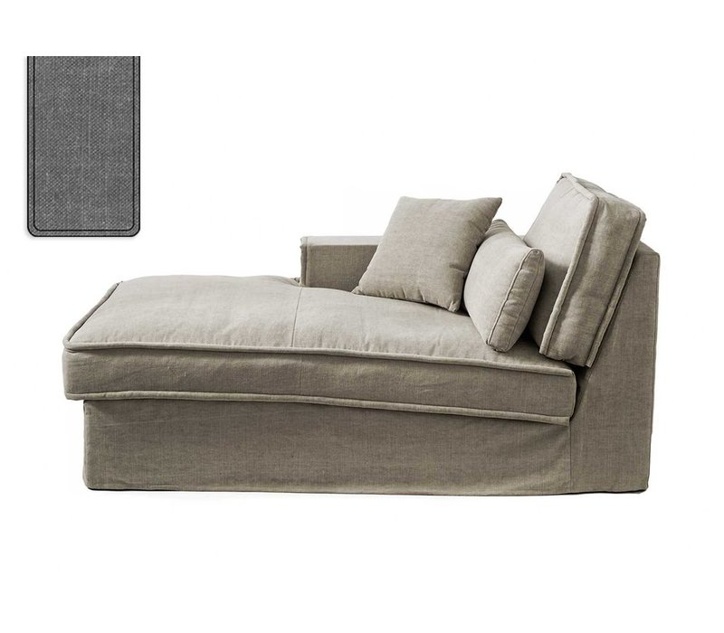 Metropolis Chaise L Left Cot Grey