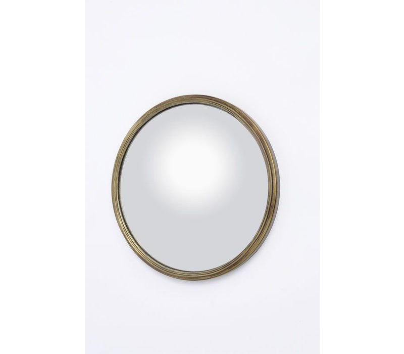 Antique Brass Convex Mirror Small
