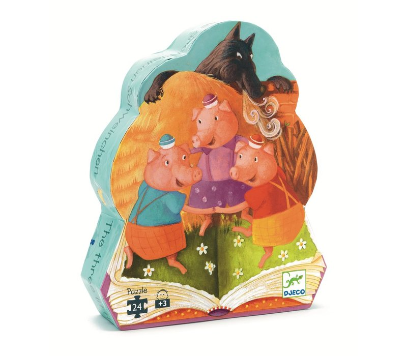 Silhouette puzzles - The 3 little pigs