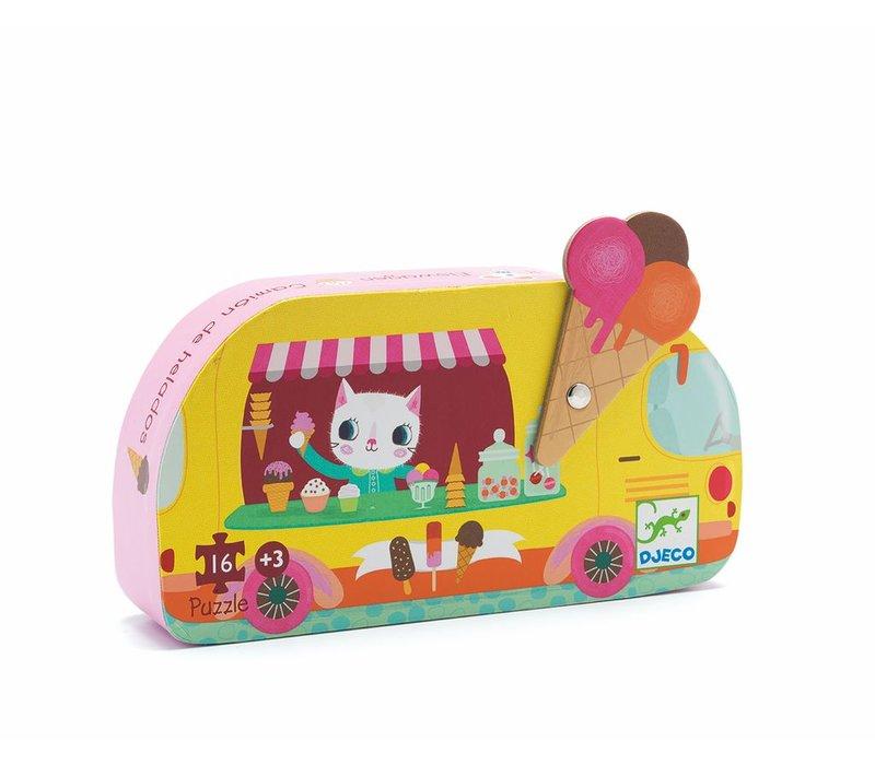 Silhouette puzzles - Ice cream truck