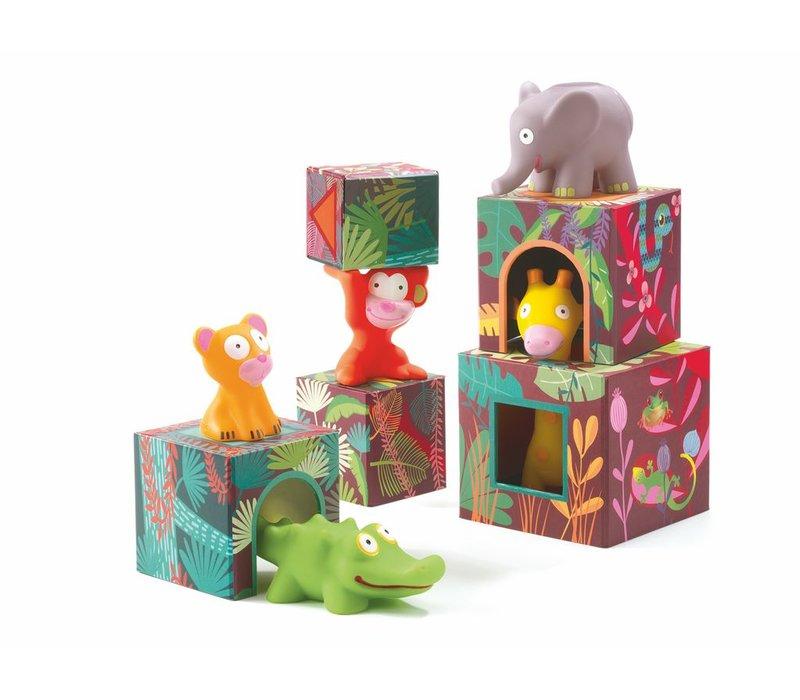Blocks for infants - Maxi Topani jungle