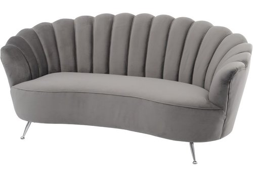 Homestore Sasha Soft Mid Grey Velvet Two Seater Shell Sofa