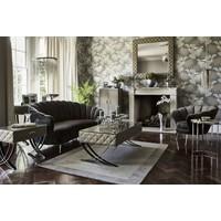 Sasha Soft Mid Grey Velvet Shell Chair