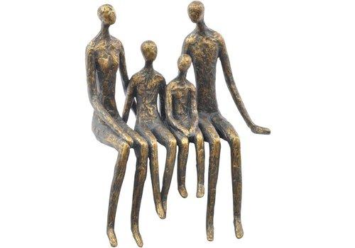 Homestore Sitting Family Of Four Shelf Sculpture