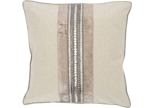 Homestore Gatsby Taupe Square Cushion