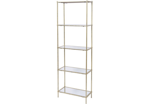 Homestore Mylas Five Tier Shelving Unit With Mirrored Panels