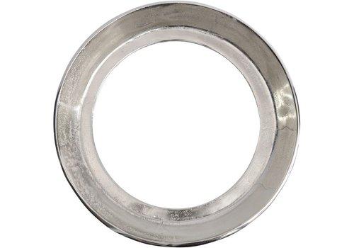 Homestore Dalvich Polished Silver Round Aluminium Mirror Small