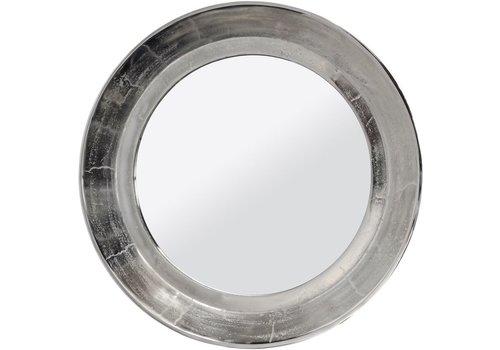 Homestore Dalvich Polished Silver Round Aluminium Mirror Medium