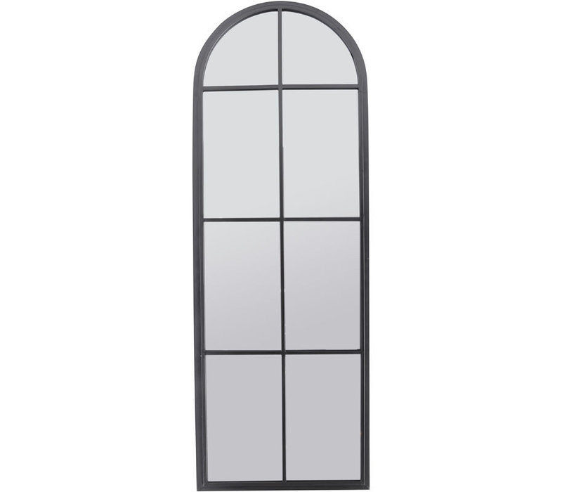 Tall Graphite Arch Iron Mirror