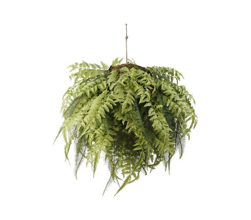 Faux Fern Hanging Ball 98cm
