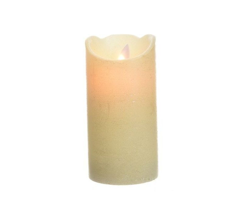 LED wax waving candle w glitter metallic finish - tall
