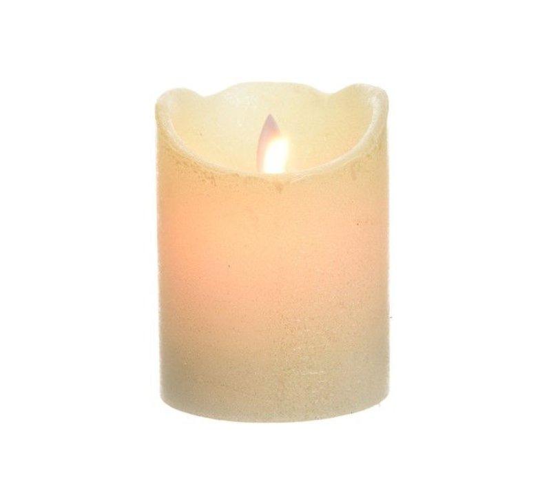 LED wax waving candle w glitter metallic finish - small