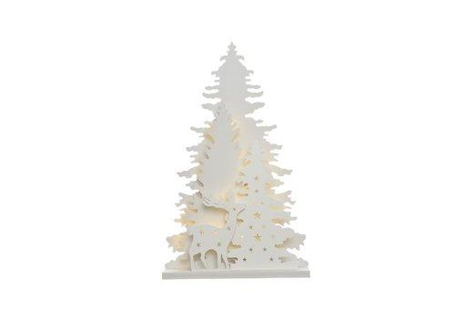 Christmas LED tree scenery - 30 warm white lights (timer)