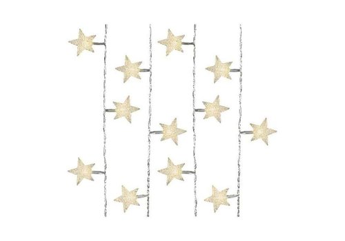 Christmas LED lights with transparent star design in warm white - 40 lights