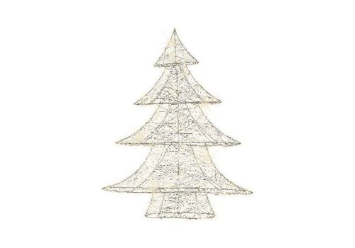 Christmas micro LED wire tree (indoor) silver wire - 60 light  height: 60cm (timer)