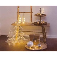 micro LED wire tree (indoor) silver wire - 60 light  height: 60cm (timer)