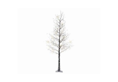 Christmas LED Xmas tree with snow & warm white LED lights - 120 lights - 240cm