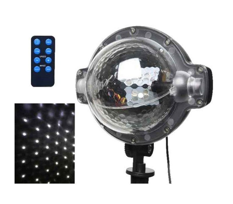 LED snowflurries projector in assorted colours