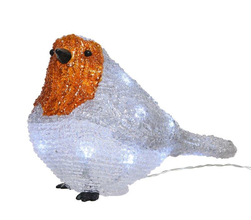 LED acrylic robin bird outdoors - battery