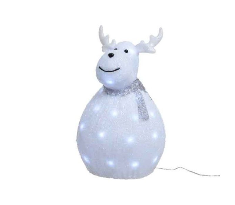 LED acrylic deer outdoor with scarf - 40 lights - short