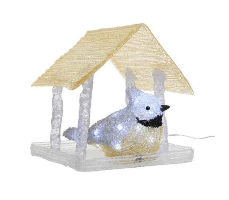 LED acrylic birdhouse outdoor - 20 lights