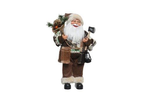 Christmas Santa w axe, lamp, bag & presents