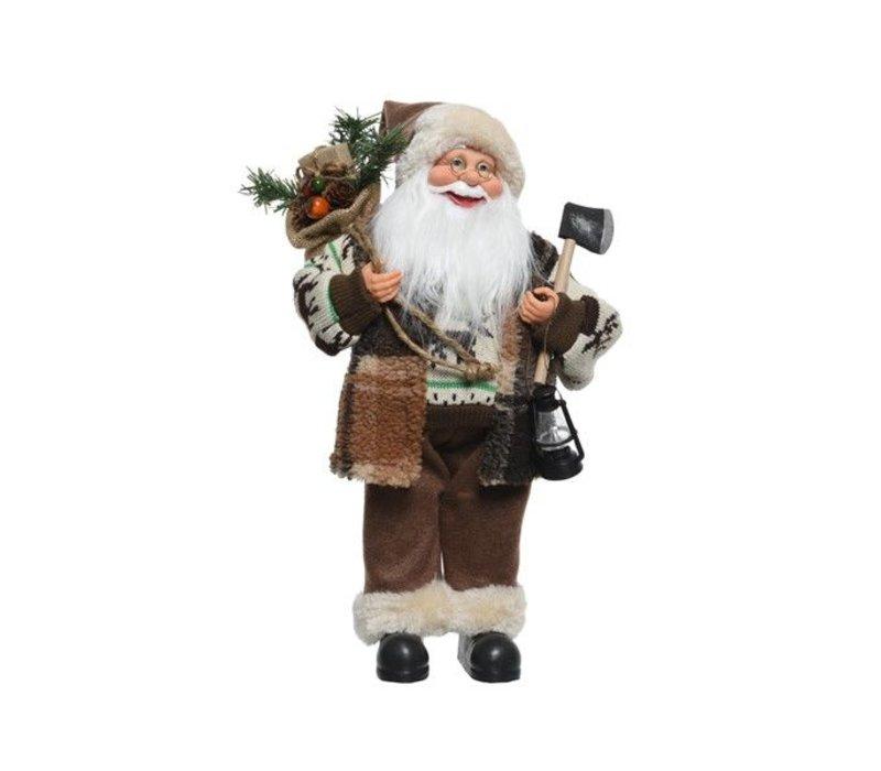 Santa w axe, lamp, bag & presents