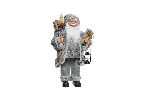 Christmas Santa w lamp, bag, presents & tree - Large