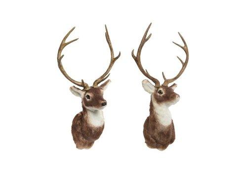 Christmas artifical fur deer head with antlers