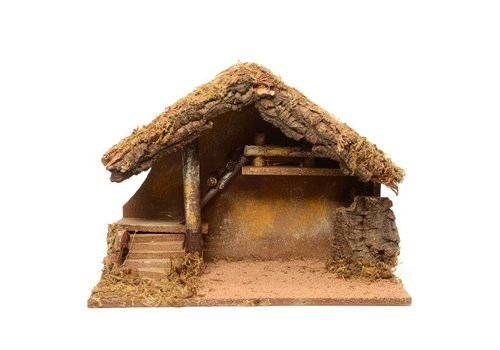 Christmas Nativity house with steps