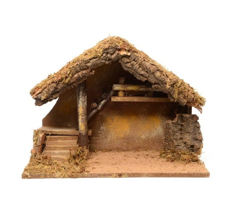 Nativity house with steps