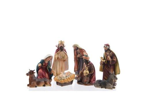 Christmas Nativity set with 8 figures