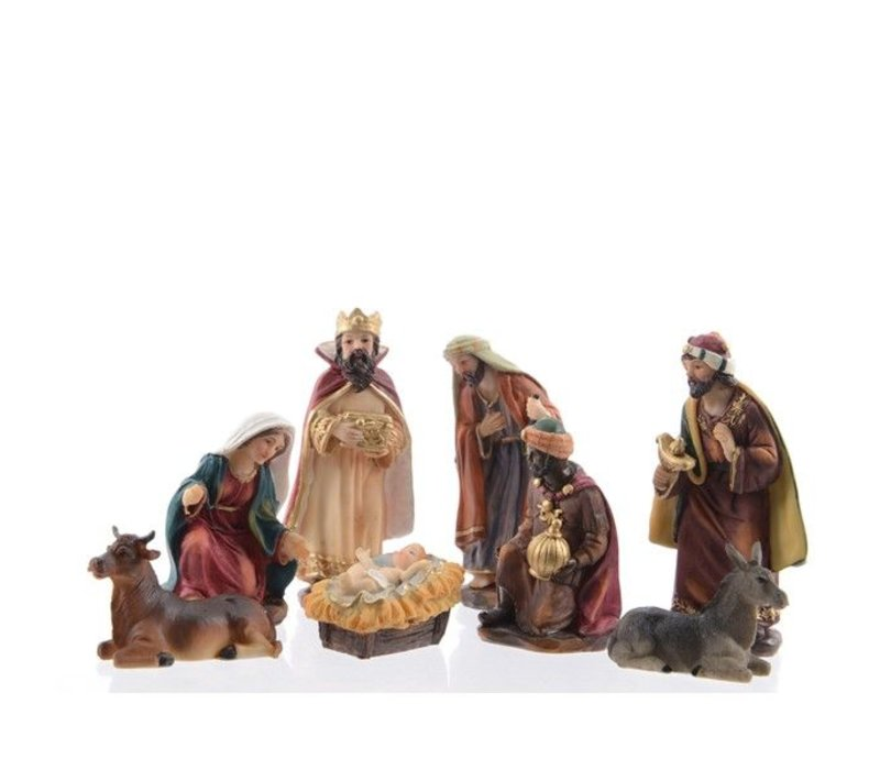 Nativity set with 8 figures