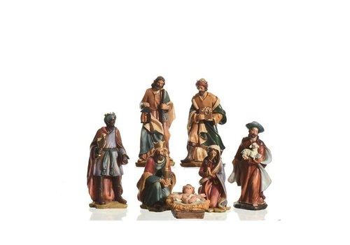 Christmas Nativity set with 7 figures<br /> Maria - Joseph - Jesus<br /> 3 kings - shepherd