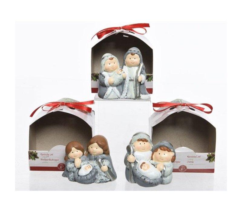 Nativity Set in grey & white