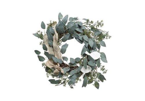 Christmas wreath of sage leaves - 60cm