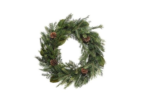 Christmas natural wreath with pinecone dia - 60cm
