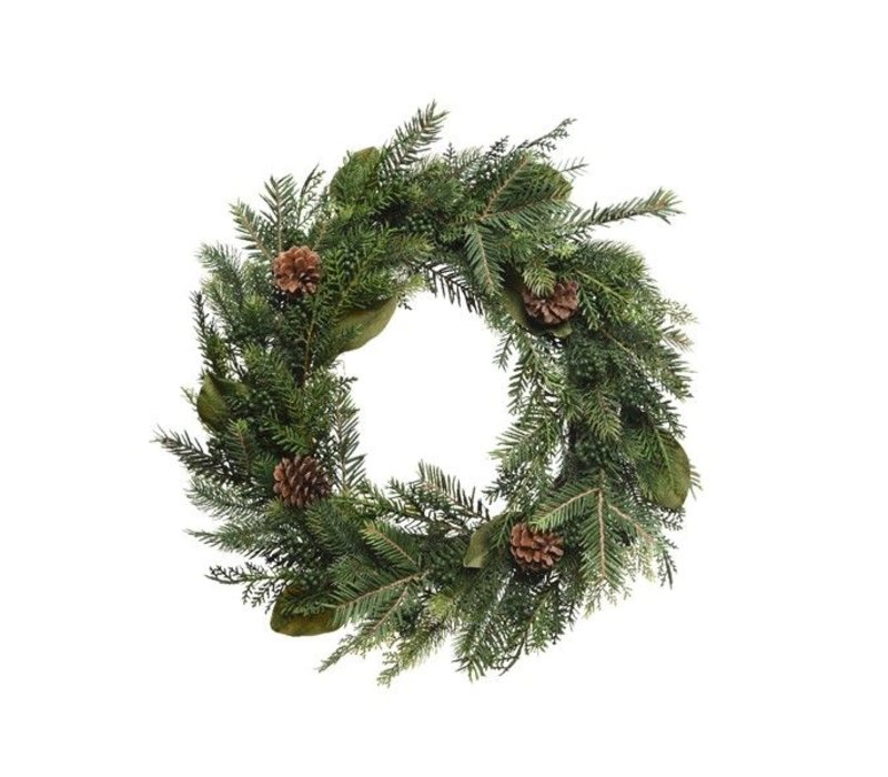 natural wreath with pinecone dia - 60cm