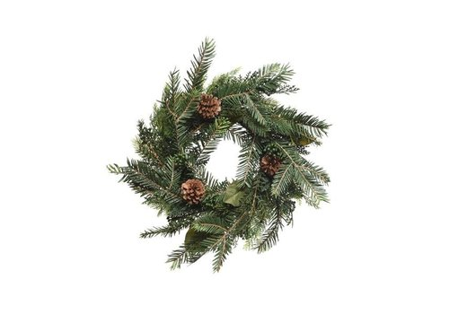 Christmas natural wreath with pinecone dia - 40cm