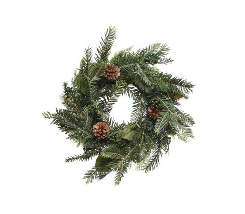 natural wreath with pinecone dia - 40cm