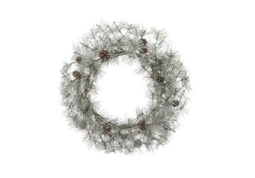 Christmas Frosted wreath pinecones - dia50cm
