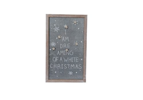 Christmas Magnet board w text & 6 magnets stars