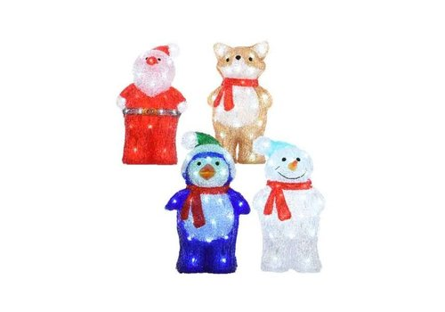 Christmas LED acrylic Fox, Snowman, Santa or Penguin - 40 lights