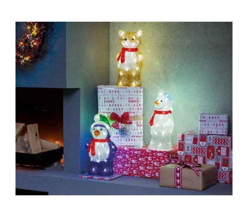 LED acrylic Fox, Snowman, Santa or Penguin - 40 lights