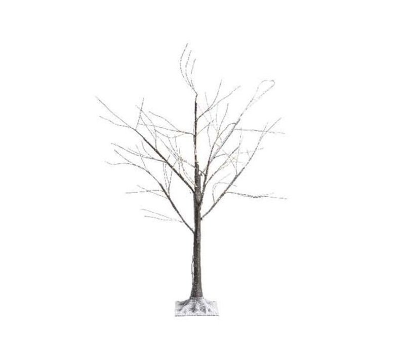 micro LED brown tree with snow - 180cm - 600 lights