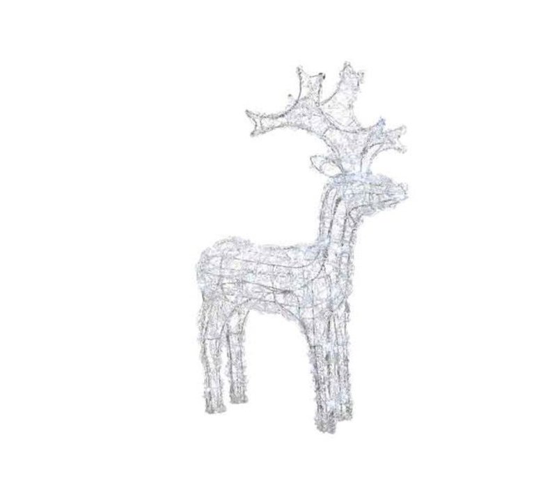 LED acryl reindeer flash outdoors - 80 lights