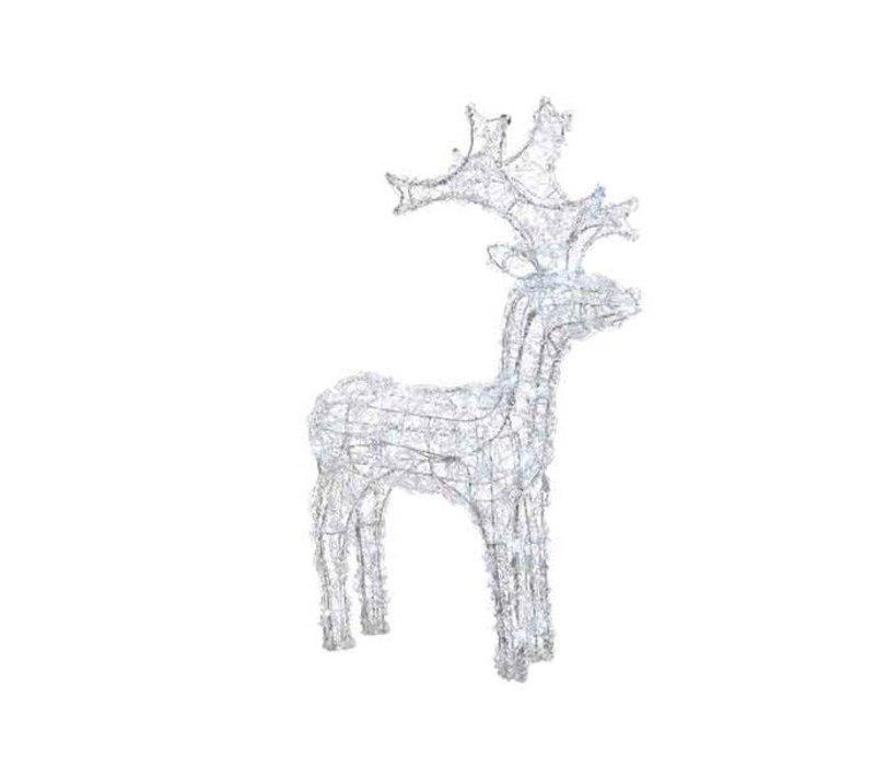 LED acryl reindeer flash outdoors - 120 lights